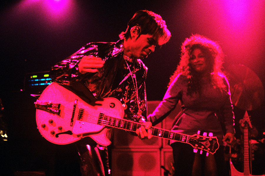 Prince and Chaka in 1988; photo by Bob Berg, stolen from Billboard.